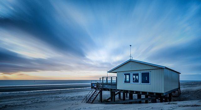 Ett hus på stranden